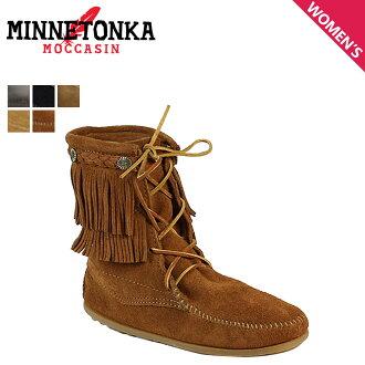 Tramper boots DOUBLE FRINGE TRAMPER BOOTS Sheepskin women's Minnetonka MINNETONKA fringe