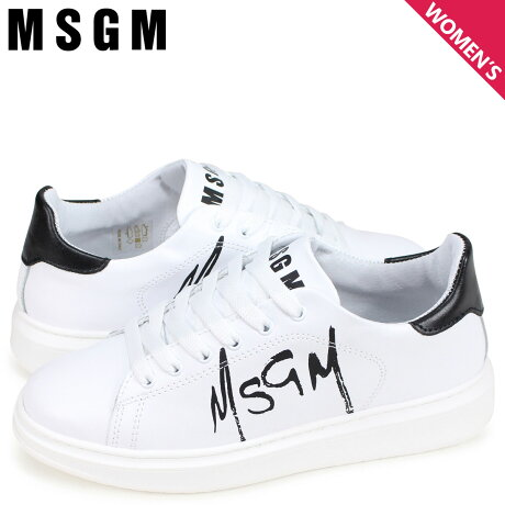 MSGM エムエスジーエム スニーカー レディース TRAINERS WITH PAINT BRUSHED LOGO ホワイト 2641MDS1708 123 01 [3/6 新入荷]