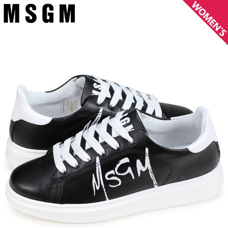 MSGM エムエスジーエム スニーカー レディース TRAINERS WITH PAINT BRUSHED LOGO ブラック 2641MDS1708 123 99 [予約商品 3/6頃入荷予定 新入荷]