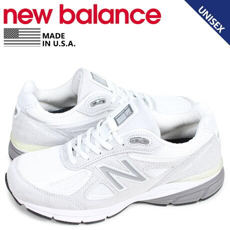 ニューバランス new balance 990 スニーカー メンズ レディース Dワイズ MADE IN USA ホワイト 白 M990JUA4 [予約商品 3/11頃入荷予定 新入荷]