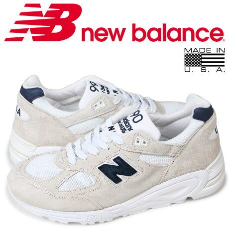 ニューバランス new balance 990 メンズ スニーカー M990WE2 Dワイズ MADE IN USA オフホワイト [予約商品 10/17頃入荷予定 再入荷]
