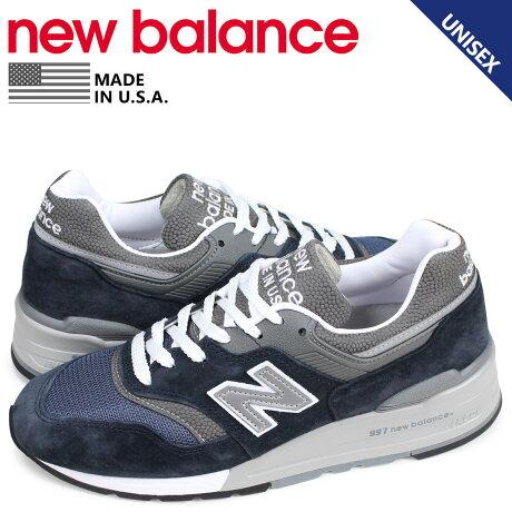 ニューバランス new balance 997 スニーカー メンズ レディース Dワイズ MADE IN USA ネイビー M997NV [予約商品 4/2頃入荷予定 追加入荷]