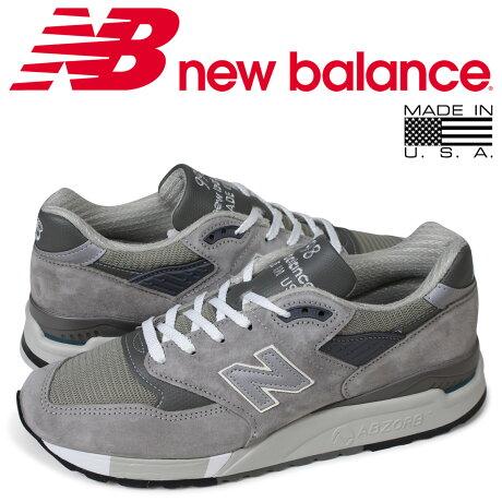 ニューバランス new balance 998 メンズ スニーカー MADE IN USA Dワイズ グレー M998 GY [9/13 追加入荷]