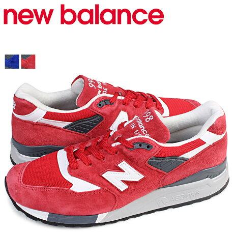 ニューバランス 998 メンズ new balance スニーカー M998CRD M998CBU Dワイズ 靴 レッド
