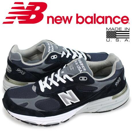 ニューバランス 993 メンズ new balance スニーカー MR993NV Dワイズ MADE IN USA ネイビー
