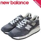 ニューバランスレディースnewbalance998スニーカーMADEINUSAW998CHBワイズ靴グレー