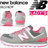 newbalanceニューバランス574レディーススニーカーWL574CPFBワイズ靴グレーあす楽