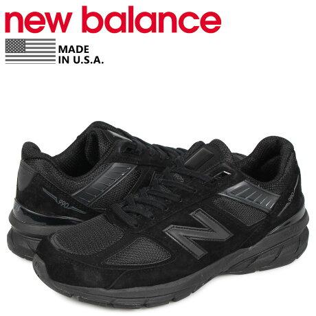 ニューバランス new balance 990 スニーカー メンズ Dワイズ MADE IN USA ブラック 黒 M990BB5 [予約商品 10/18頃入荷予定 再入荷]