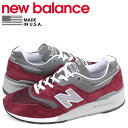 ニューバランス new balance 997 スニーカー メンズ Dワイズ MADE IN USA バーガンディ M997BR