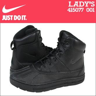 耐吉NIKE運動鞋長筒靴女士ACG WOODSIDE GS 415077-001鞋黑色