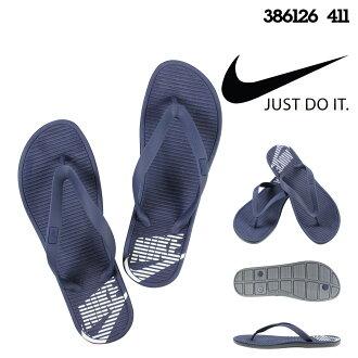 耐吉NIKE涼鞋鉗子涼鞋SOLARSOFT THONG 386126-411深藍人