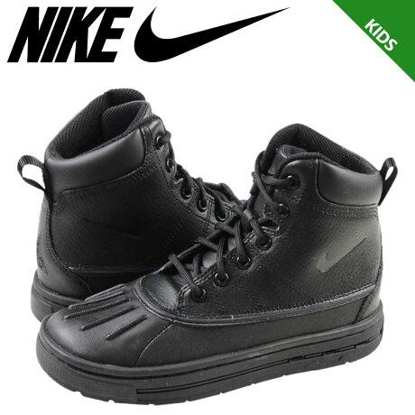 ナイキ NIKE スニーカー ブーツ キッズ WOODSIDE BOOT PS 415079-001 靴 ブラック 【9000足】【CLEARANCE】【返品不可】