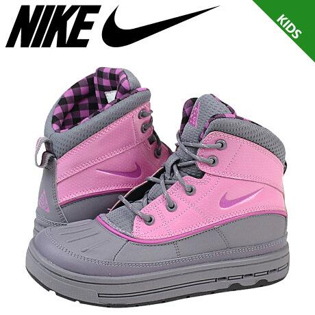 ナイキ NIKE スニーカー ブーツ キッズ ACG GIRLS WOODSIDE 2 HIGH PS 524877-002 靴 グレー 【9000足】【CLEARANCE】【返品不可】