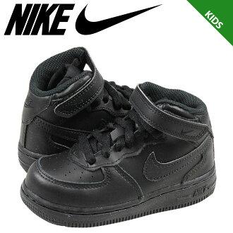 Nike 耐克嬰兒孩子空軍 1 中期 TD 運動鞋空軍 1 中期蹣跚學步初中孩子嬰兒學步車 314197-004-皮革