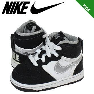 耐吉NIKE運動鞋嬰兒小孩BIG NIKE HIGH LE TD 344574-001鞋白黑色[40][P]