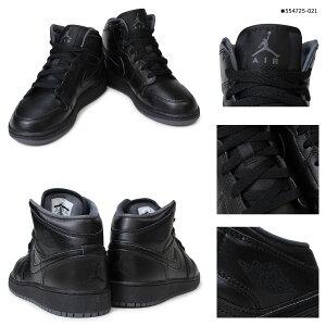 ナイキNIKEエアジョーダンスニーカーレディースAIRJORDAN1MIDGSエアジョーダン1ミッド靴ブラックホワイト