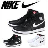 NIKEナイキエアジョーダンスニーカーAIRJORDAN1RETROHIOGジョーダン1レトロ555088-011555088-102メンズ靴ブラックホワイト