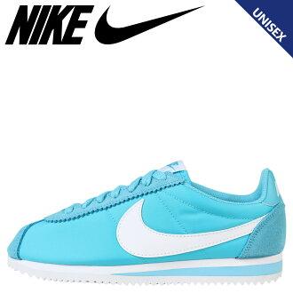 耐克 Nike Cortez 運動鞋女子經典 CORTEZ 尼龍 749864 410 男鞋藍色