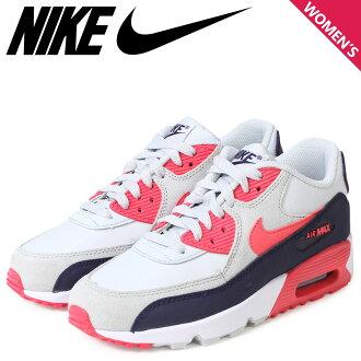 耐吉空氣最大女士NIKE運動鞋AIR MAX 90 LTR GS空氣最大833376-005鞋白金[預訂商品1/13左右打算進貨再入貨物]