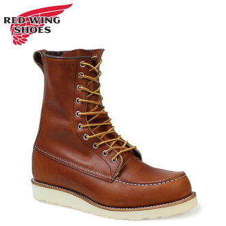 «Booking products» «11 / 6 days will be in stock» Redwing RED WING 8 inch MOC to boots at 877 8inch Moc Toe Boots ORO-IGINAL leather mens Made in USA Red Wing