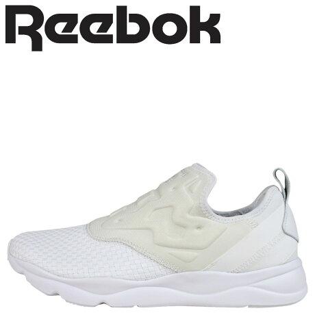 リーボック フューリーライト スニーカー Reebok FURYLITE SLIPON WEAVE メンズ レディース AR3801 スリッポン 靴 ホワイト