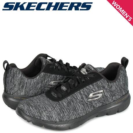 スケッチャーズ SKECHERS フレックスアピール 3.0 スニーカー レディース FLEXAPPEAL 3.0 INSIDERS ブラック 黒 13067 [10/3 新入荷]