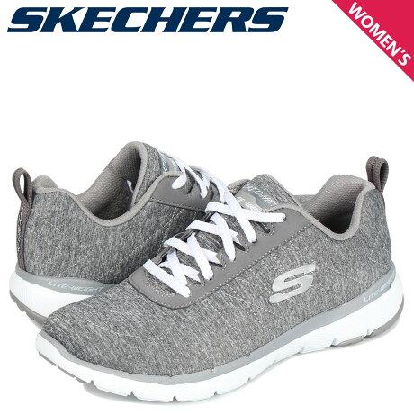 スケッチャーズ SKECHERS フレックスアピール 3.0 スニーカー レディース FLEXAPPEAL 3.0 INSIDERS グレー 13067 [10/3 新入荷]