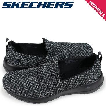 スケッチャーズ SKECHERS ゴーウォーク ジョイ レディース スニーカー スリッポン GO WALK JOY 15616 ブラック