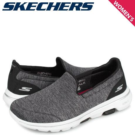 スケッチャーズ SKECHERS ゴーウォーク 5 スリッポン スニーカー レディース GO WALK 5 HONOR ブラック 黒 15903 [10/3 新入荷]