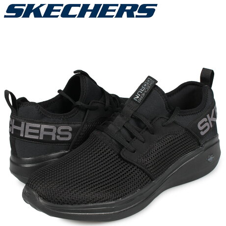 スケッチャーズ SKECHERS ゴーラン スニーカー メンズ GO RUN FAST VALOR ブラック 黒 55103 [10/3 新入荷]