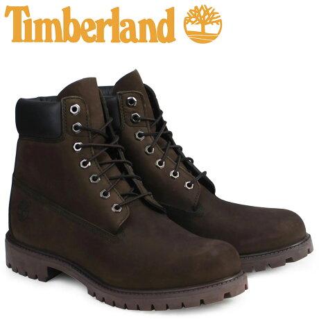 ティンバーランド ブーツ メンズ 6インチ Timberland 6INCH PREMIUM WATERPROOF BOOTS プレミアム ウォータープルーフ ヌバック 防水 10001 ダークチョコレート