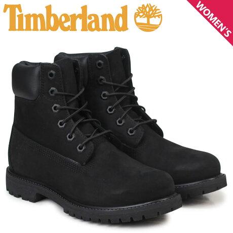 ティンバーランド ブーツ レディース 6インチ Timberland WOMENS 6INCH PREMIUM WATERPROOF BOOTS 8658A Wワイズ プレミアム 防水 ブラック