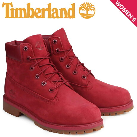 ティンバーランド レディース ブーツ 6インチ Timberland キッズ 6INCH PREMIUM BOOTS A13HV Wワイズ 防水 レッド