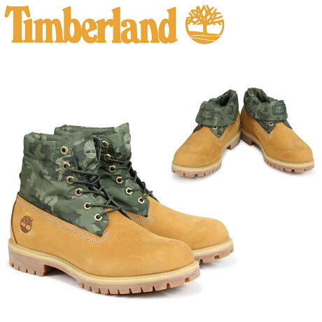 ティンバーランド ロールトップ ブーツ Timberland メンズ ROLL TOP A1QY4 Wワイズ ウィート