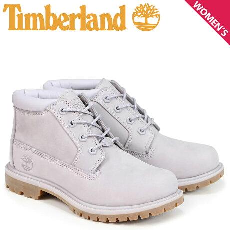 ティンバーランド チャッカ レディース Timberland ブーツ NELLIE CHUKKA DOUBLE A1S7R Wワイズ ライトグレー [8/2 新入荷]