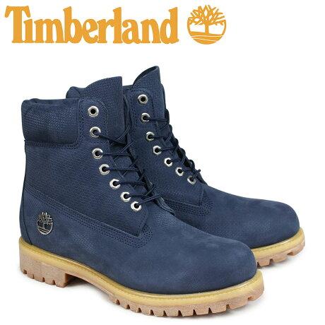 ティンバーランド ブーツ メンズ 6インチ Timberland 6INCH PREMIUM BOOT A1U89 Wワイズ プレミアム ネイビー [7/25 新入荷]