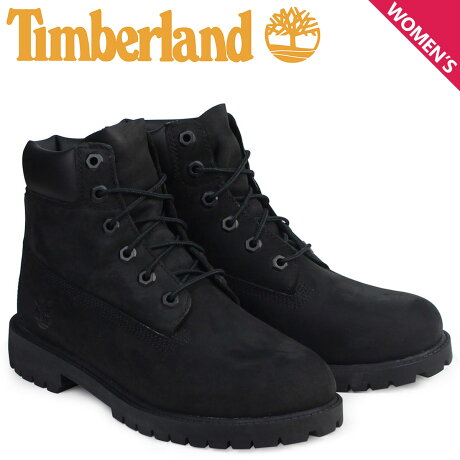 Timberland 6INCH WATERPROOF BOOTS ティンバーランド ブーツ レディース 6インチ プレミアム ウォータープルーフ ブラック 12907 [予約 1月下旬 追加入荷予定]