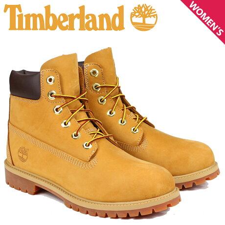 Timberland JUNIOR 6INCH PREMIUM WATERPROOF BOOTS ティンバーランド ブーツ レディース 6インチ プレミアム イエロー 12909 [9/13 追加入荷]
