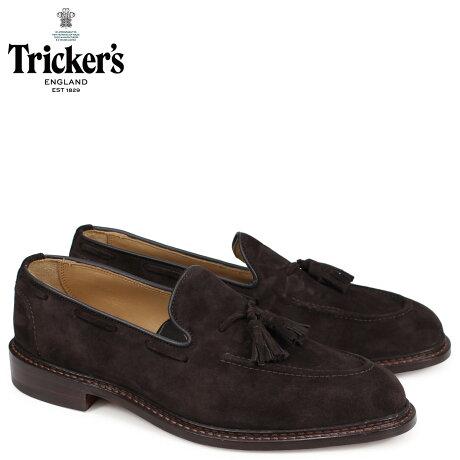 トリッカーズ Tricker's ローファー シューズ タッセルローファー ELTON 5ワイズ メンズ ブラウン 8011