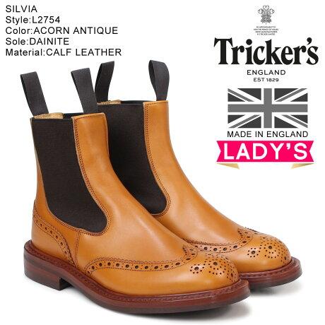 トリッカーズ Tricker's レディース サイドゴアブーツ SILVIA L2754 4ワイズ