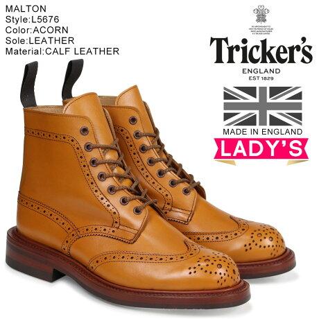 トリッカーズ Tricker's レディース カントリーブーツ STEPHY L5676 4ワイズ ライトブラウン [予約商品 10/18頃入荷予定 再入荷]