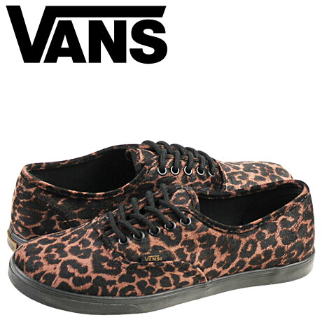 VANS オーセンティック スニーカー レディース バンズ ヴァンズ AUTHENTIC LO PRO SUEDE LEOPARD VN-0W7NEXF 靴 ブラウン