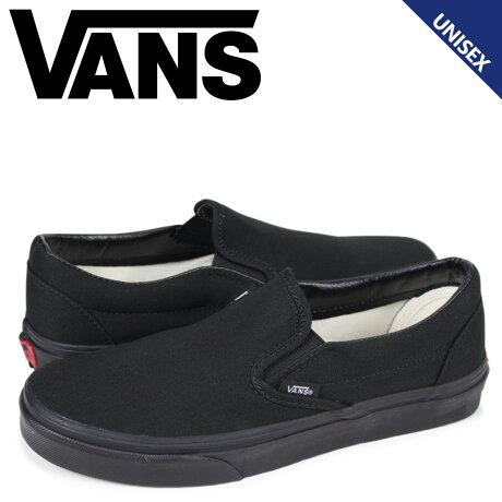 VANS ヴァンズ スリッポン スニーカー メンズ レディース バンズ CLASSIC SLIP-ON ブラック 黒 VN000EYEBKA [予約 2月上旬 追加入荷予定]