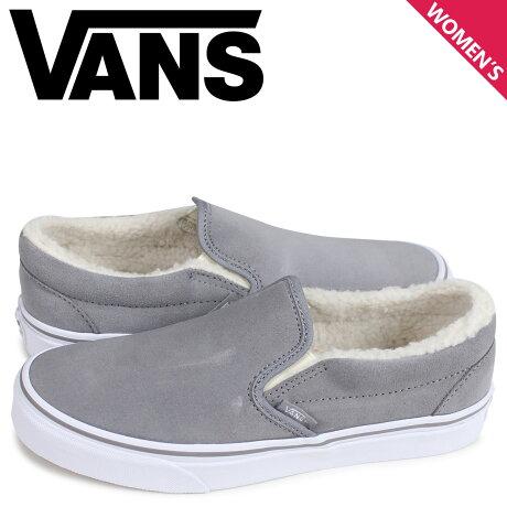 VANS バンズ スニーカー スリッポン クラシック レディース ヴァンズ CLASSIC SLIP-ON グレー VN0A33TBNF3 [予約商品 3/26頃入荷予定 新入荷]