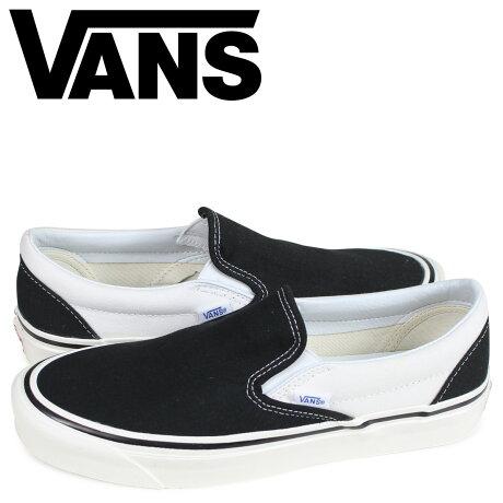 VANS バンズ スニーカー スリッポン メンズ ヴァンズ CLASSIC SLIP-ON 98 DX ブラック 黒 VN0A3JEXQF61 [予約商品 3/26頃入荷予定 新入荷]