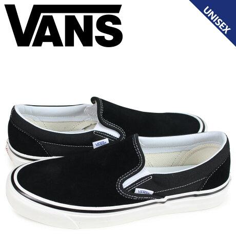 VANS バンズ スニーカー スリッポン クラシック メンズ レディース ヴァンズ CLASSIC SLIP-ON 98 DX ブラック 黒 VN0A3JEXQU1 [予約商品 3/26頃入荷予定 新入荷]