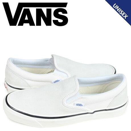VANS バンズ スニーカー スリッポン クラシック メンズ レディース ヴァンズ CLASSIC SLIP-ON 98 DX ホワイト 白 VN0A3JEXQU2 [予約商品 3/26頃入荷予定 新入荷]