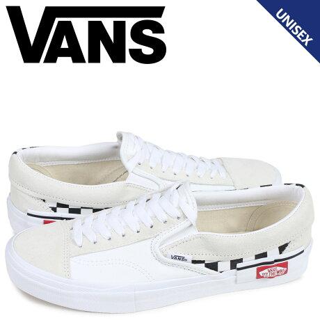 VANS バンズ スリッポン スニーカー メンズ ヴァンズ SLIP-ON CAP ホワイト 白 VN0A3WM527I [予約商品 4/3頃入荷予定 新入荷]