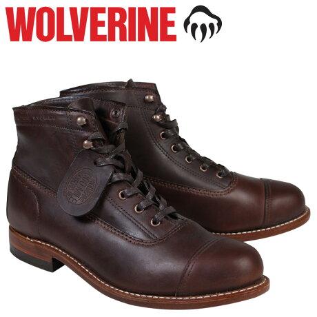 ウルヴァリン 1000マイル ブーツ WOLVERINE 1000MILE ROCKFORD CAP-TOE BOOT Dワイズ W05293 ブラウン ワークブーツ メンズ