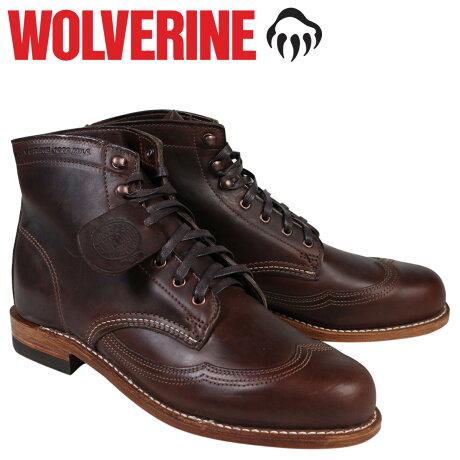 ウルヴァリン 1000マイル ブーツ WOLVERINE 1000MILE ADDISON WINGTIP BOOT Dワイズ W05342 ブラウン ウィングチップ ワークブーツ メンズ